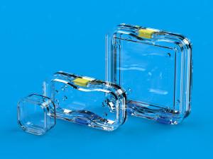 Udstillingskasserne fra ultraplast fås i tre forskellige størrelser
