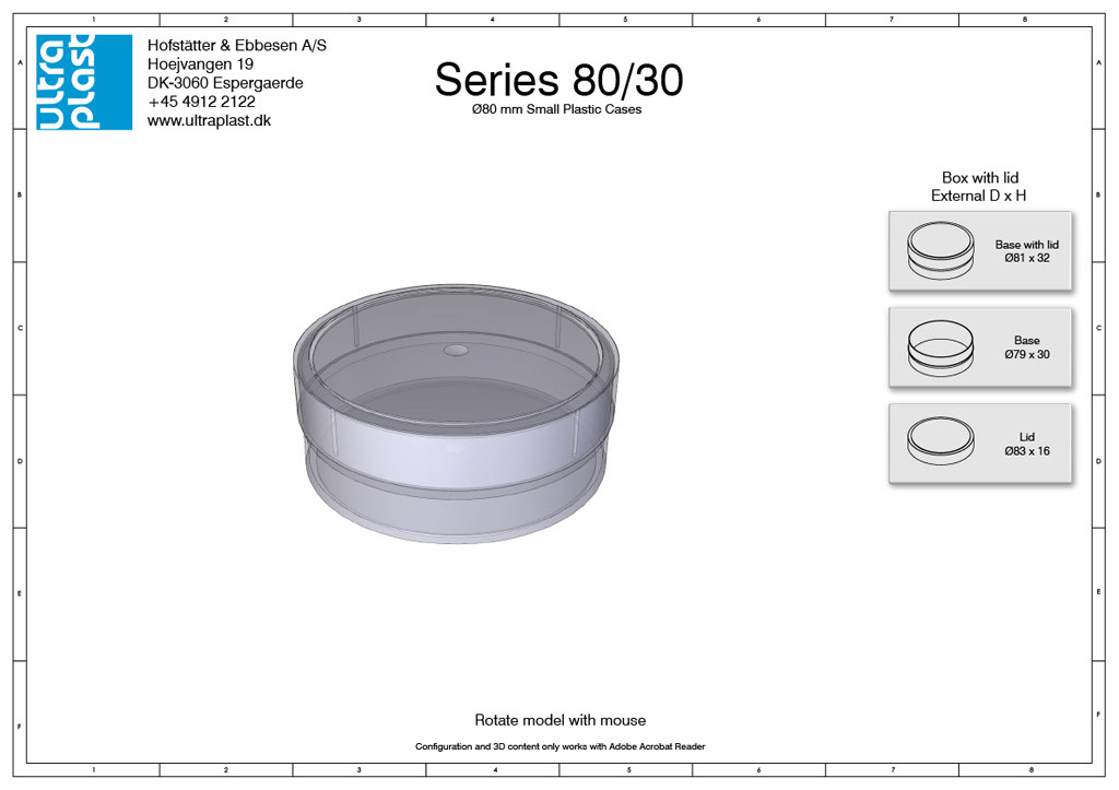 Small round storage boxes from Ultraplast A/S
