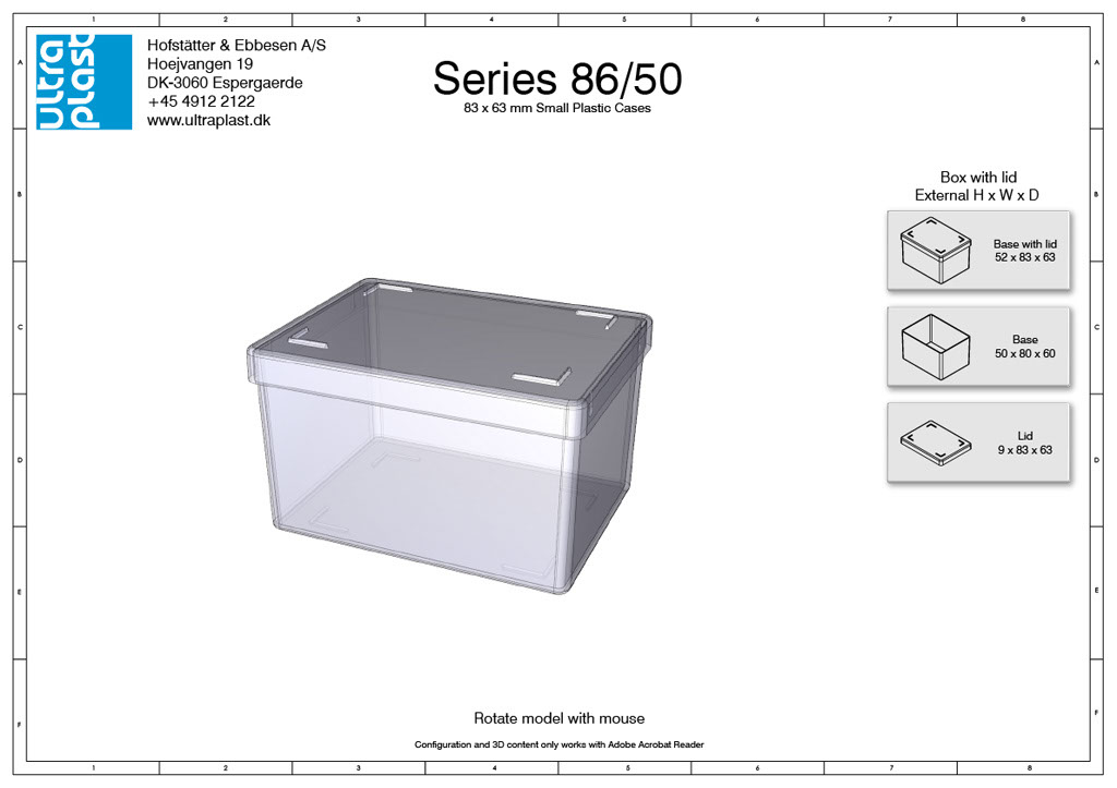 Rectangular storage box from Ultraplast A/S