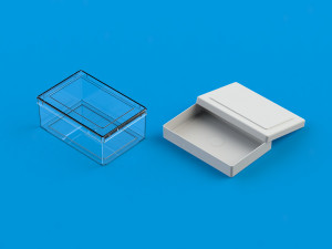 Transparent plastic box from Ultraplast A/S