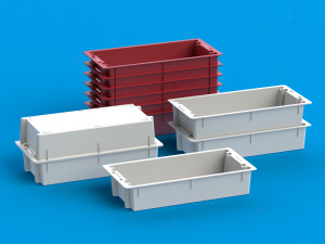 Stackable storage trays from Ultraplast A/S